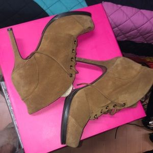 Suede and Sheerling Bootie